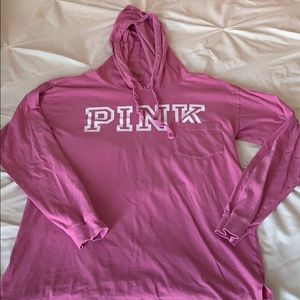 Victoria's Secret Pink long sleeve hooded T small